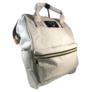 Kép 2/2 - Baba - mama pamutvászon táska szürke színben