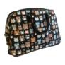Kép 1/4 - bagoly mintás színes gurulós bőrönd utazótáska
