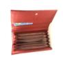 Kép 3/3 - Piros műbőr brifkó pincér pénztárca