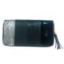 Kép 1/2 - mintás műbőr pénztárca fekete
