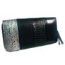 Kép 2/2 - Mintás műbőr pénztárca fekete színben